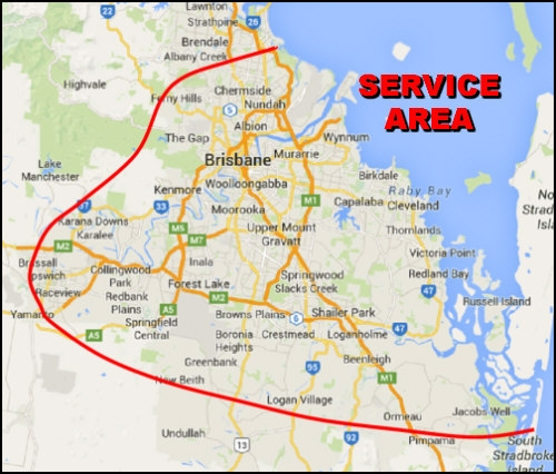 Motorcycle Roadworthys Service Area Map